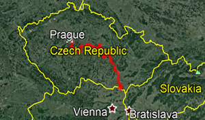 Czech Highlands Road Bikes Tour Map