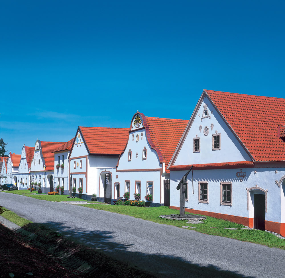 Barogue village Holasovice